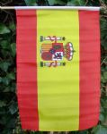 HAND WAVING FLAG - Spain (With Crest)